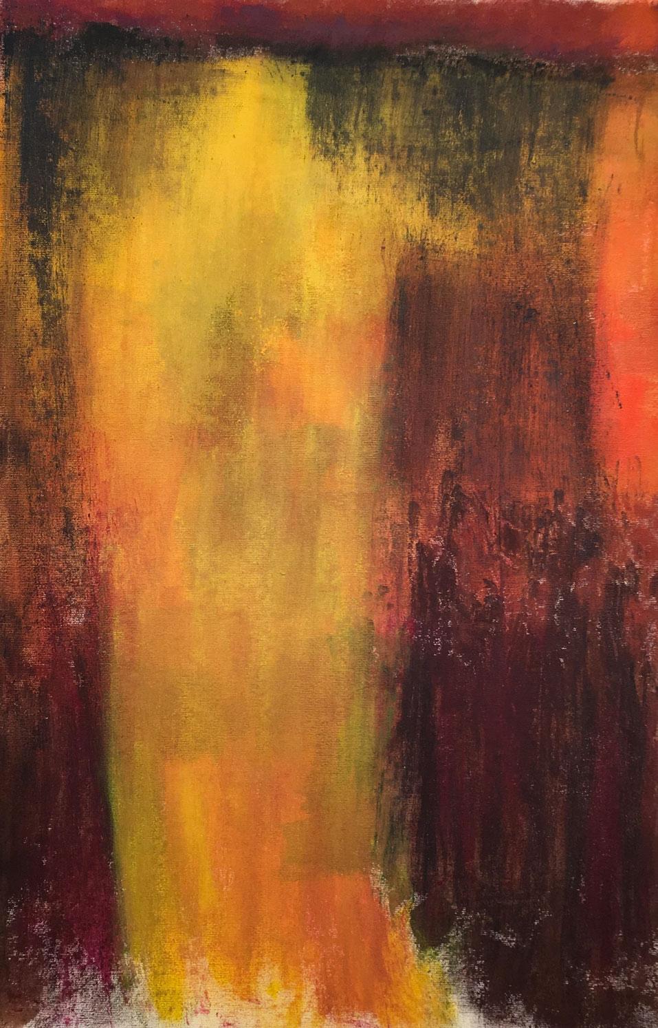N°4057 - Spectre - Acrylique et pigments sur toile - 100 x 67 cm - 13 janvier 2017