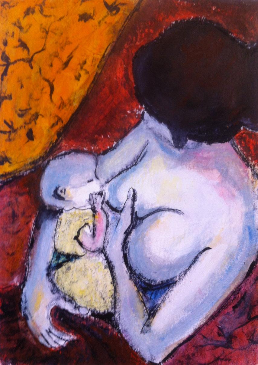 N°1150 - Adèle - Acrylique sur papier - 36 x 26 cm - 31 janvier 2014