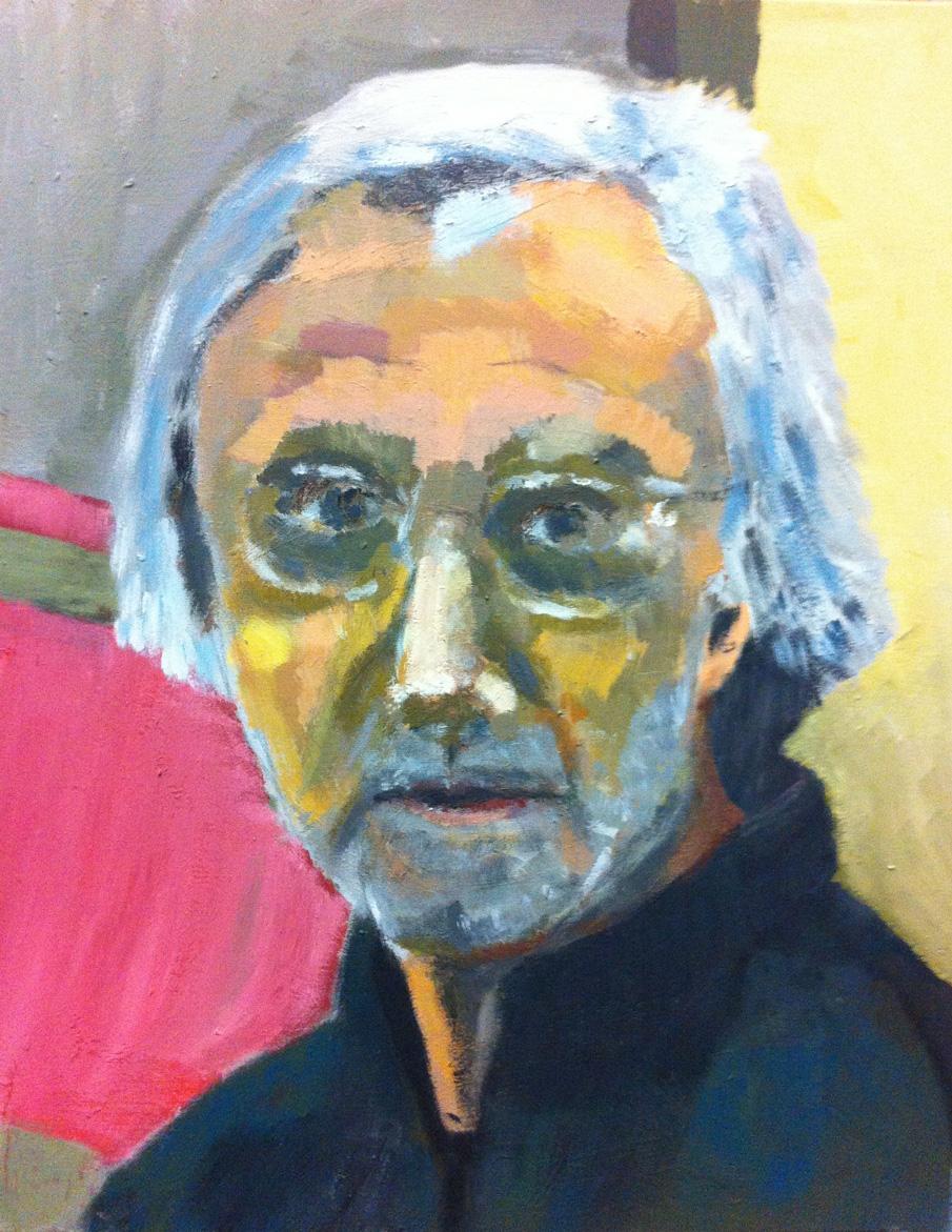 N°43 - Autoportrait - Acrylique sur toile - 50 x 40 cm - 10 décembre 2012