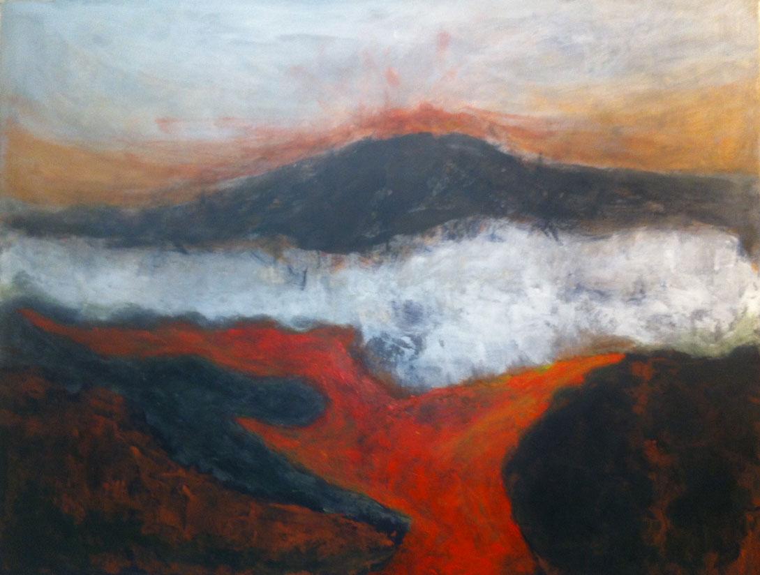 N°1204 - Volcano - Acrylique sur toile - 89 x 116 cm - 25 février 2014