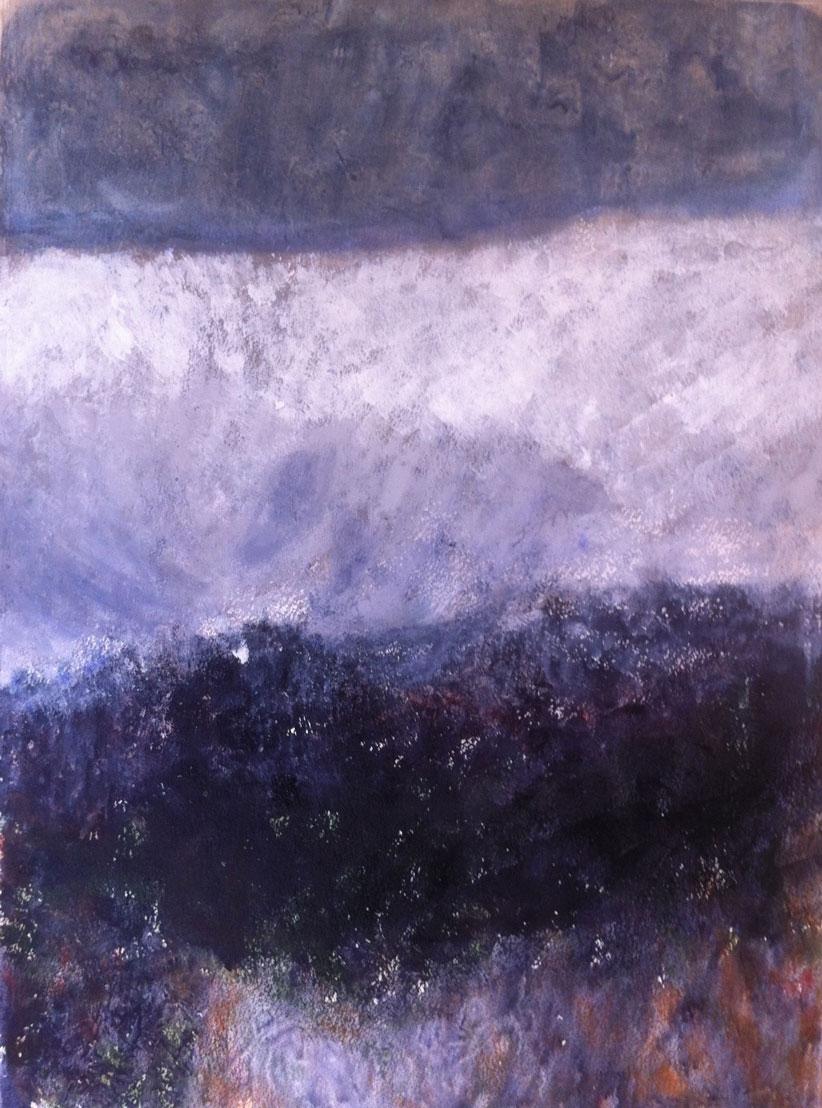 N°1339 - Haute montagne - Acrylique sur papier - 74 x 54 cm - 10 avril 2014