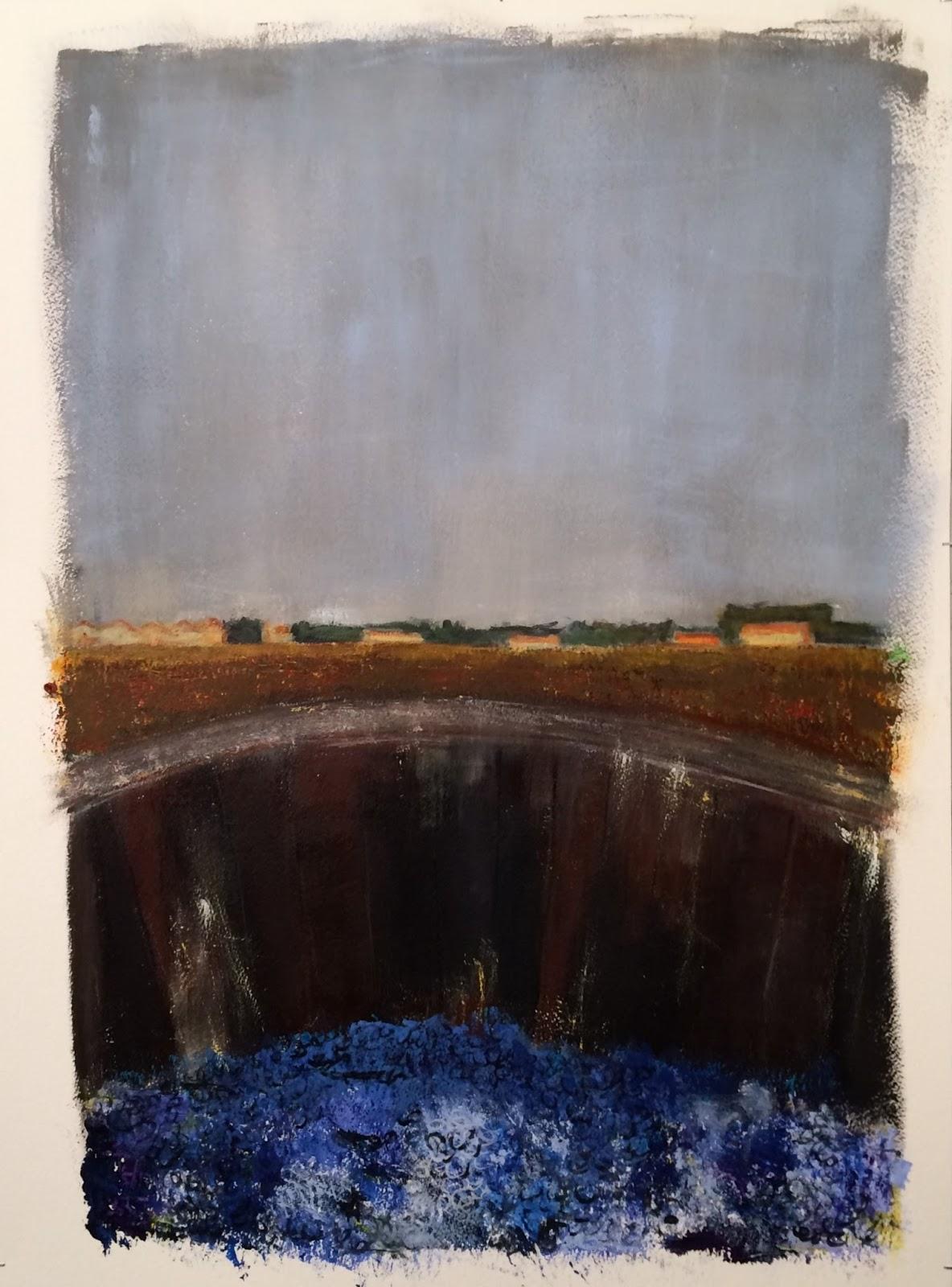 N°3139 - Vendanges à l'Enclos de la Croix - Acrylique sur papier - 76 x 56 cm - 23 octobre 2016