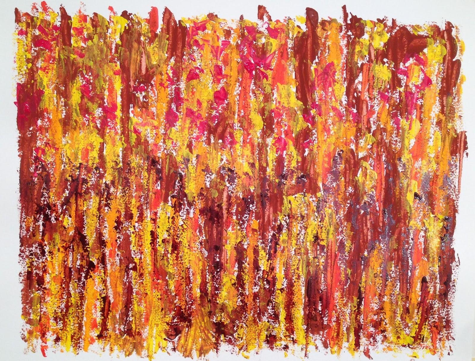N°3328 - Champ - Acrylique et pigments sur papier - 50 x 65 cm - 15 juin 2016