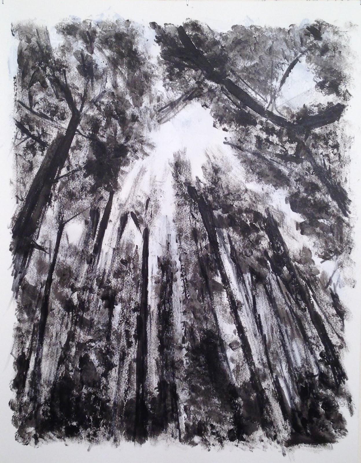 N°3346 - Canopée - Acrylique sur papier - 65 x 50 cm - 20 juin 2017