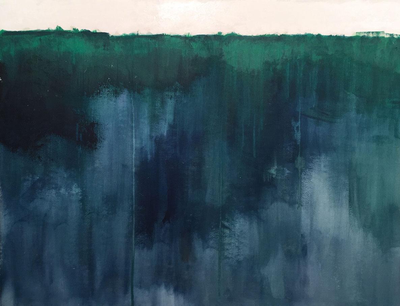 N°3382 - Forêt amazonienne - Acrylique sur toile - 86 x 116 cm - 5 juillet 2017
