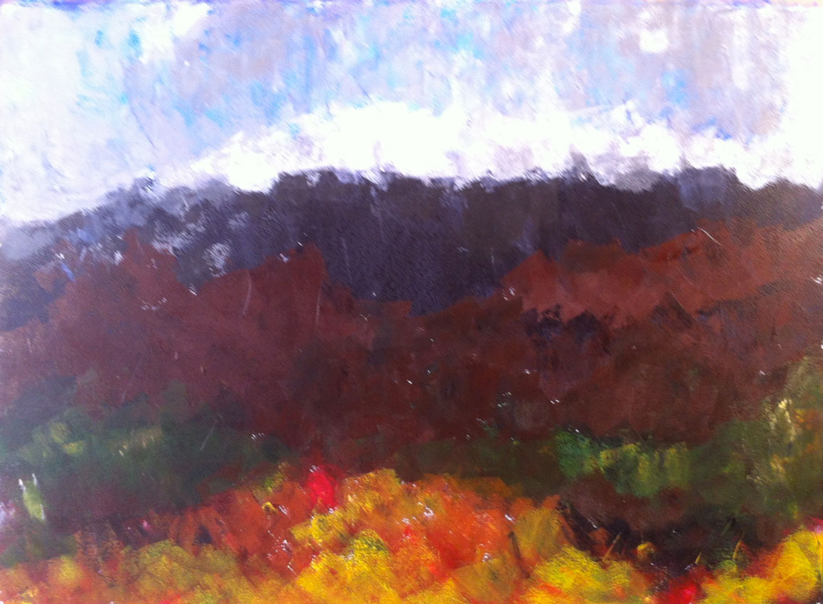 N°529 - Forêt polychrome - Acrylique sur papier - 65 x 76 cm - 23 juillet 2013