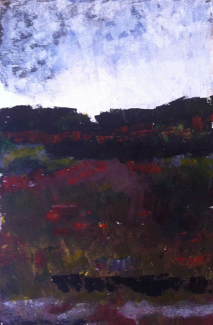 N°547 - Clé des champs - Acrylique sur papier - 53 x 35 cm - 25 juillet 2013