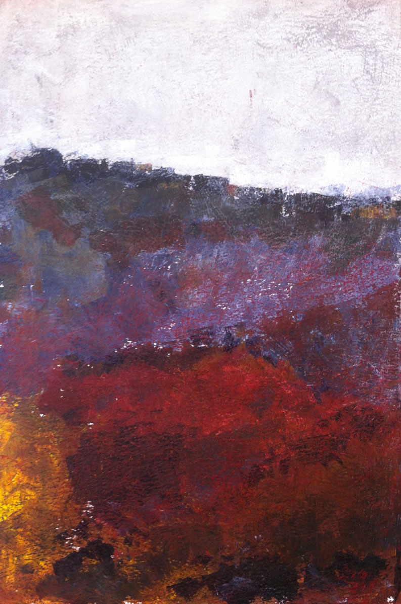 N°583 - Hortus - Acrylique sur papier - 53 x 31 cm - 5 août 2013
