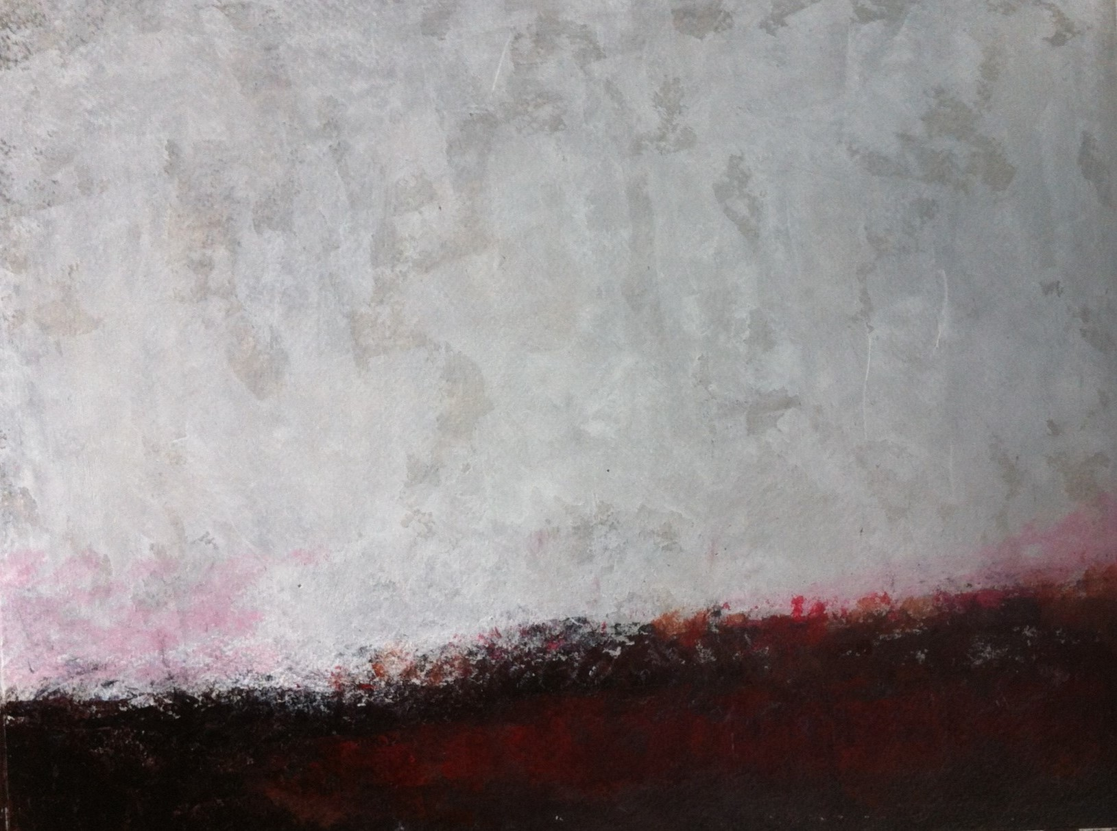 N°781 - Terre rouge - Acrylique sur papier - 24 x 31,5 cm - 2 novembre 2013