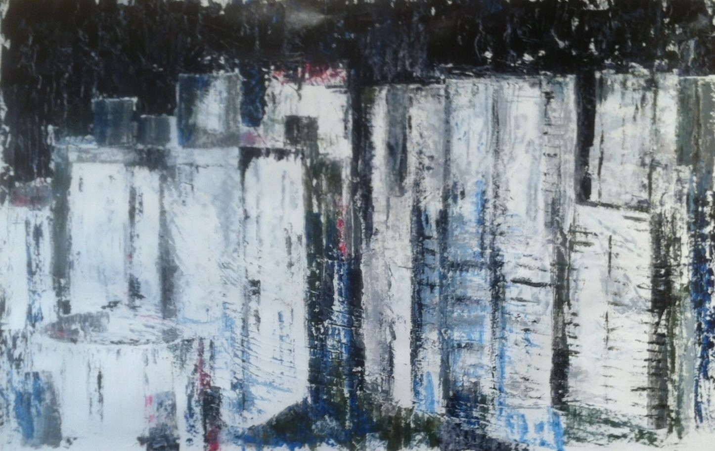 N°1600 - Downtown - Acrylique sur papier - 65 x 100 cm - 7 octobre 2014