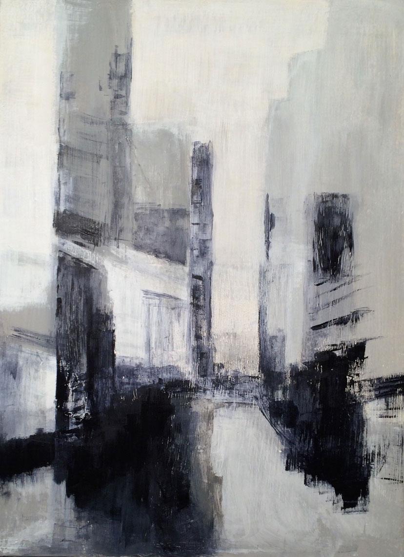 N°2068 - Ville anonyme - Acrylique sur toile - 81 x 60 cm - 23 novembre 2015