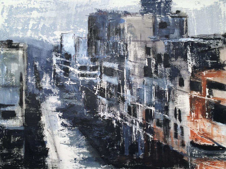 N°2086 - C'est chose triste que la guerre - Acrylique sur toile - 60 x 81 cm - 1er décembre 2015