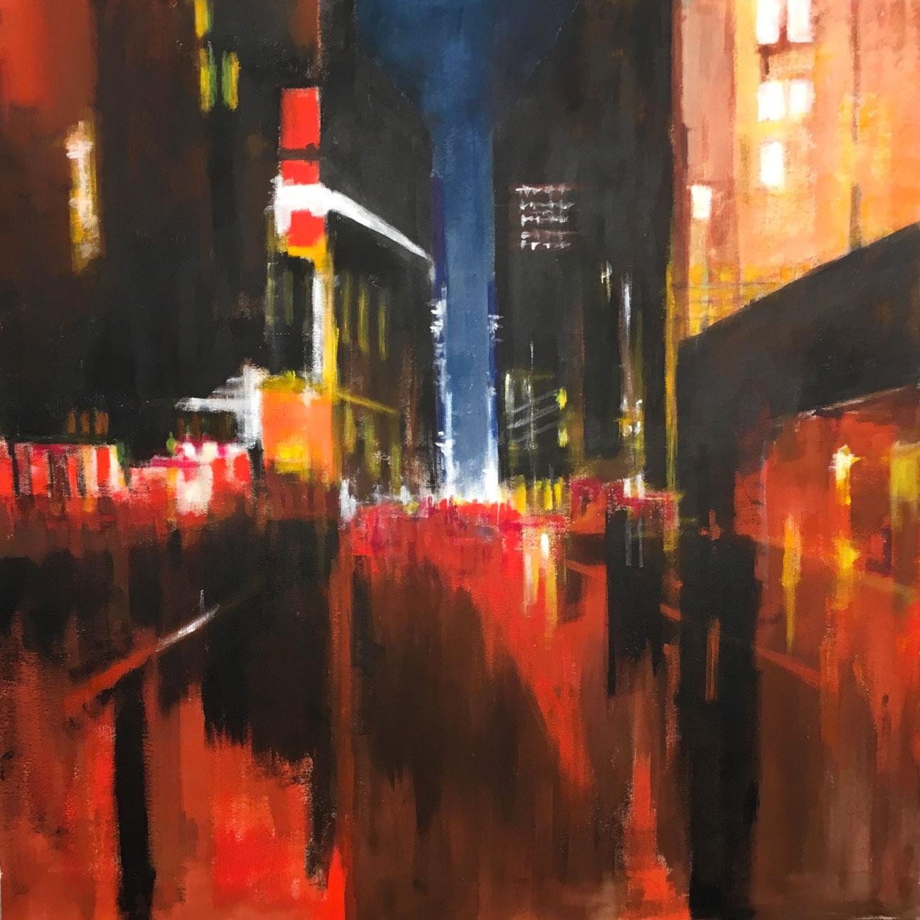 N°3427 - Acrylique et pigments - 90 x 90 cm - 15 septembre 2017