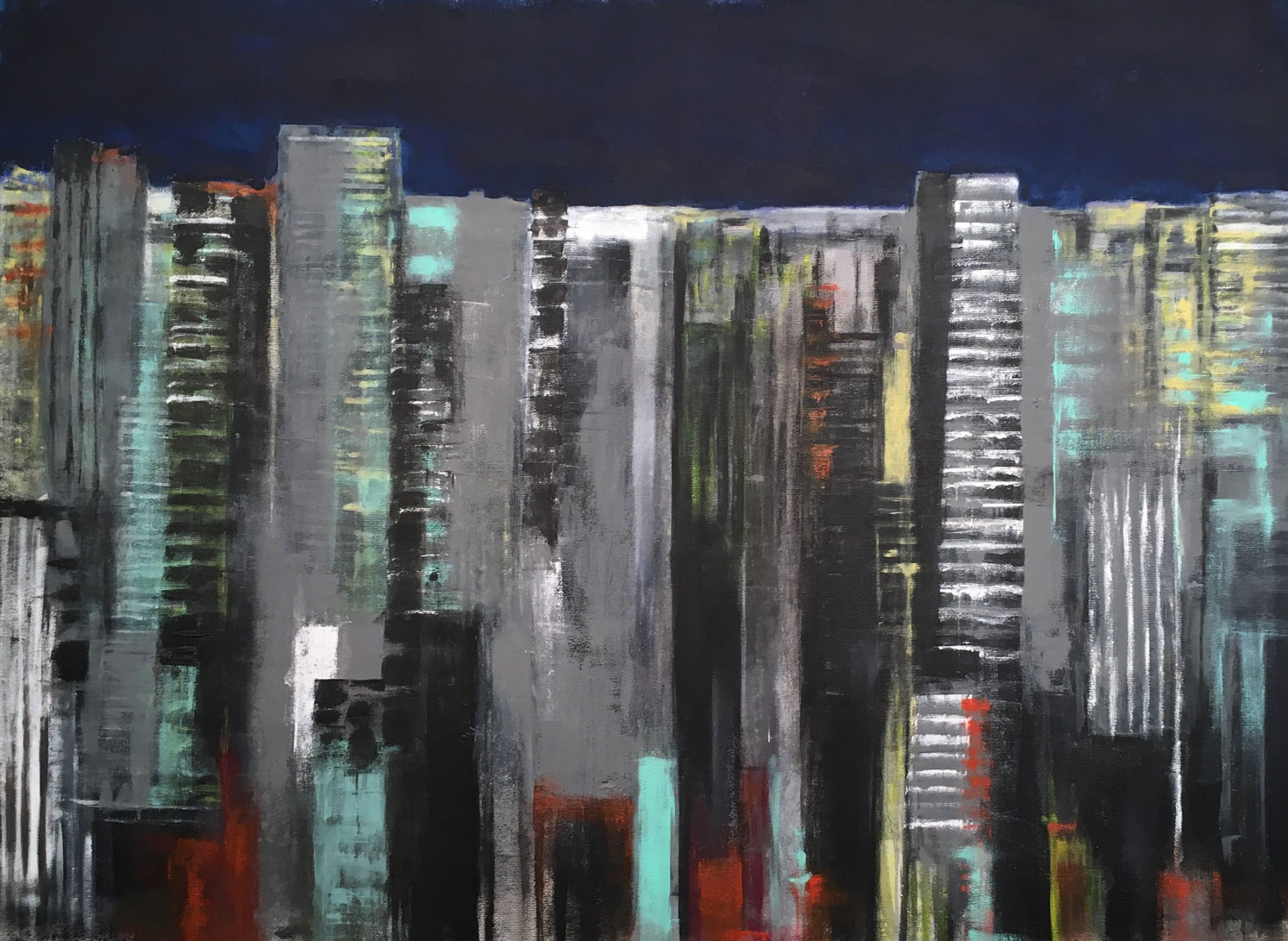 N°4111 - Acrylique et pigments sur toile - 97 x 130 cm - 15 mars 2018