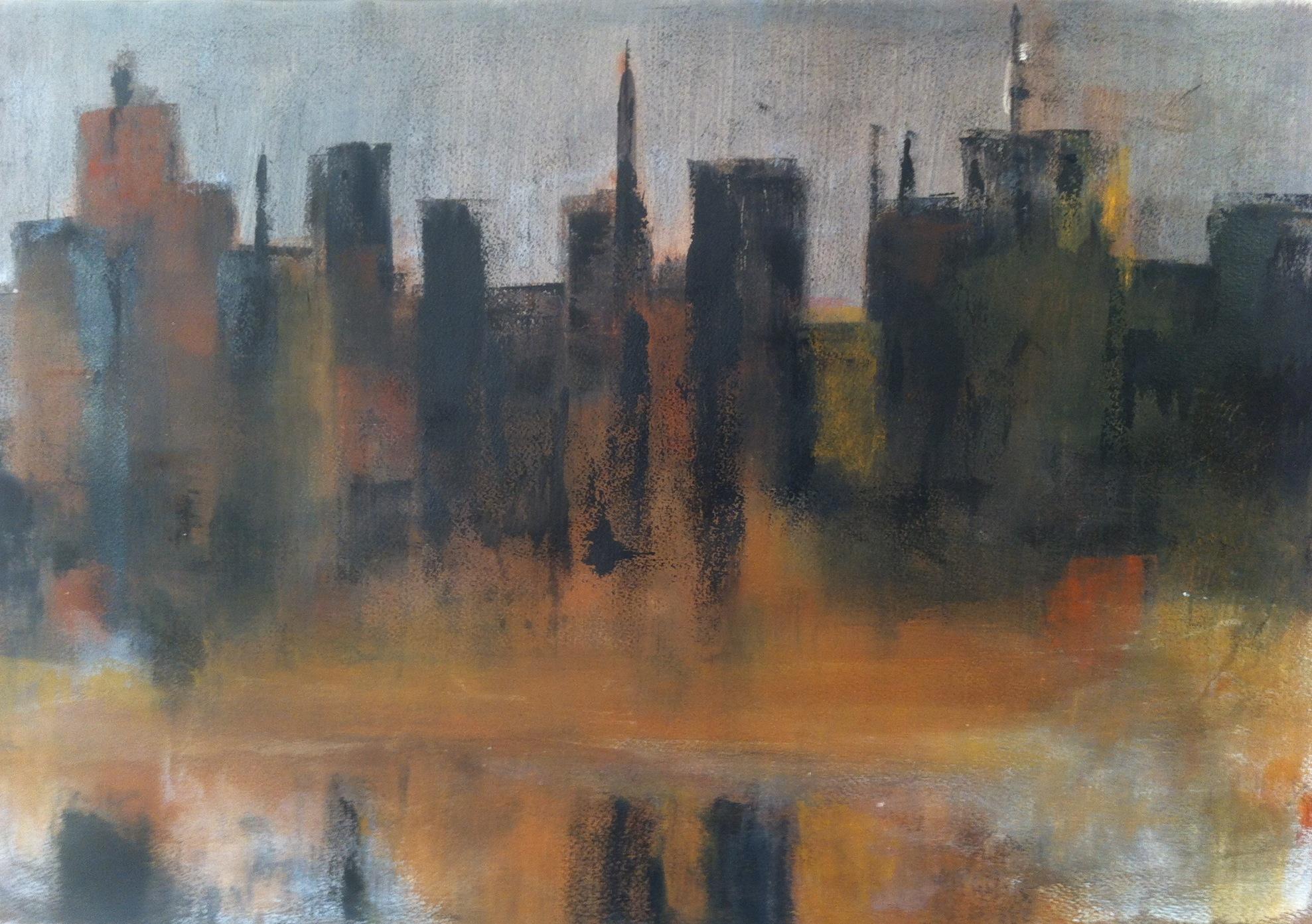 N°826 - Central Park - Acrylique sur papier - 43 x 64,5 cm - 20 novembre 2013